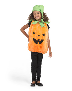 Toddler Unisex Pumpkin Plush Bubble Costume