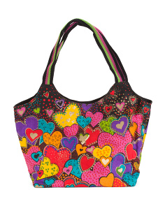 Dancing Hearts Scoop Tote