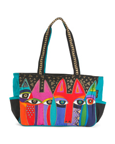 Tribal Cats Medium Tote
