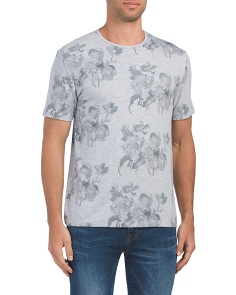Michael Tonal Monet Print Top
