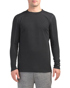 Wool Blend Baselayer Crew Neck Top