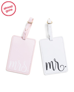 2pk Mr. & Mrs. Luggage Tags