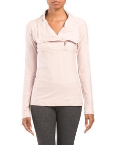 Yoga Asymmetrical Half Zip Top
