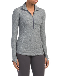 Yoga Space Dye Quarter Zip Top