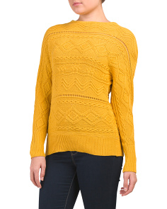 Textured Dolman Sleeve Sweater