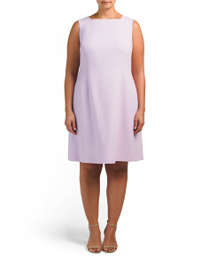 Plus Jojo Nouveau Crepe Wool Dress
