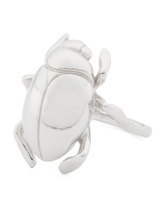 Made In Italy Sterling Silver Beetle Ring