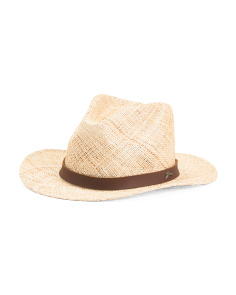 Straw Safari Hat With Leather Band