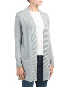 Ottoman Ribbed Duster Cardigan