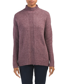 Mock Neck Fly Away Back Sweater