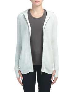 Active Hooded Zip Up Cardigan
