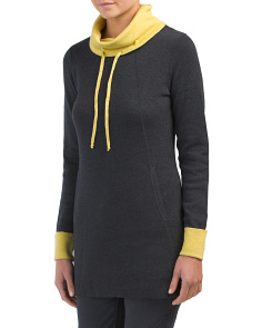 Long Sweater With Contrast Trim