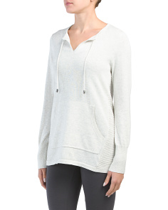 V-neck Pullover Sweater With Pocket