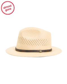 Straw Panama Vented Safari Hat