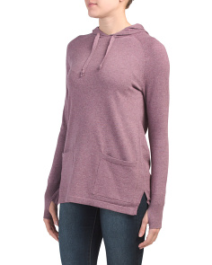 Active Hooded Sweater With Pockets
