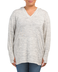 Plus Crossover V Neck Sweater