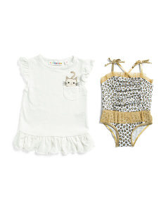 Infant Girls 2pc Swimsuit & Cover-up Set