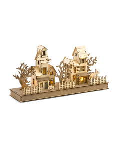 Laser Cut Light Up Haunted House Scene