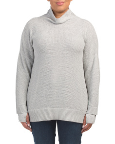 Plus Double Layer Tunic Sweater