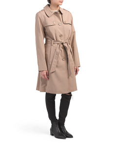 Belted Rain Trench Coat