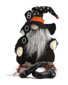 25in Gnome With Skull Hat