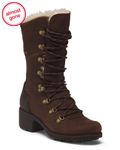 Insulated Lace Up Leather Boots