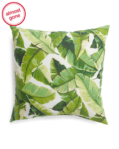 Made In Usa 22x22 Indoor Outdoor Leaf Pillow