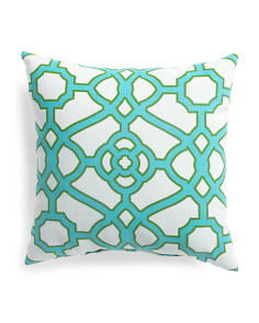 24x24 Indoor Outdoor Oversized Gate Pattern Pillow