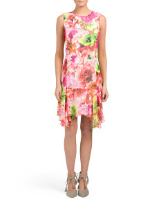 Tropical Handkerchief Hem Dress