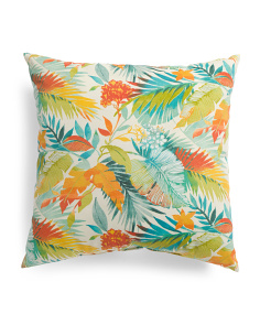 Made In USA 22x22 Indoor Outdoor Tropical Pillow