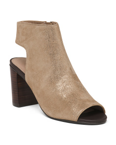 Suede Peep Toe Shooties