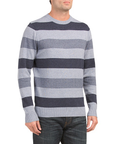 Long Sleeve Marl Stripe Crew Sweater