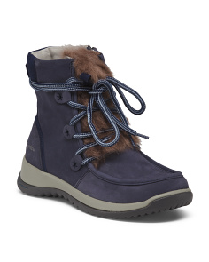 Cold Weather Brushed Leather Boots