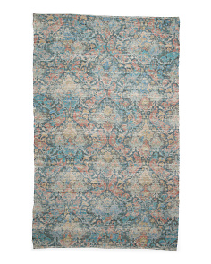 Made In India 5x8 Printed Flat Weave Area Rug