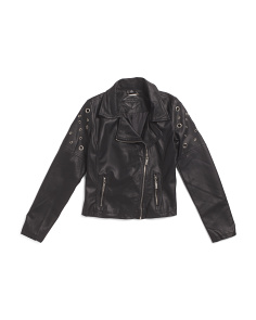Big Girls Faux Leather Jacket