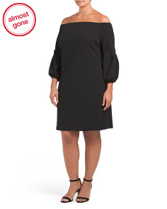 Plus Off The Shoulder Ponte Dress