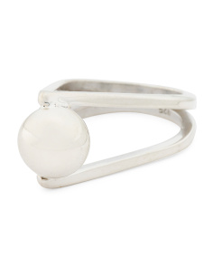 Handmade In Mexico Sterling Silver Captured Orb Ring