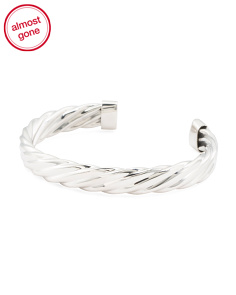 Handmade In Mexico Sterling Silver Braided Cuff Bracelet