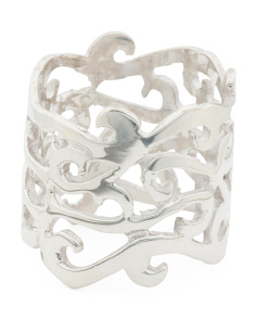 Made In Mexico Sterling Silver Curly Band Ring