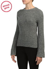 Cashmere Marled Bell Sleeve Sweater