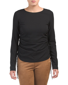 Silk Blend Ruched Shirt
