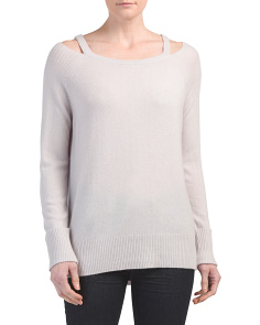 Cold Shoulder Cashmere Sweater