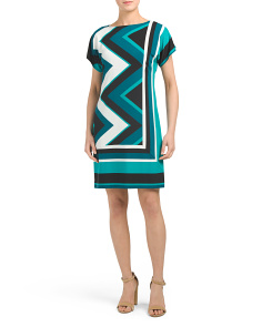 Chevron Matte Jersey Dress