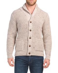 Made In Ireland Button Merino Wool Cardigan