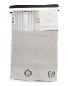 54x84 Set Of 2 Linen Look Ellie Curtains