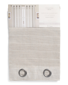 54x84 Set Of 2 Linen Blend Curtains