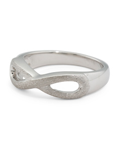 Made In Thailand Sterling Silver Infinity Ring