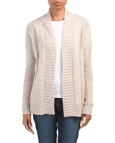 Shawl Collar Open Cardigan