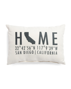 Made In Usa 14x20 Home Coordinates Pillow