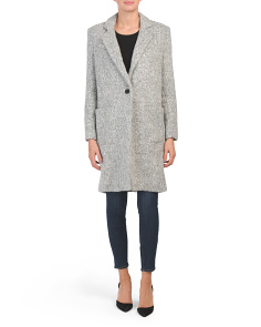 Giselle Single Button Wool Blend Coat